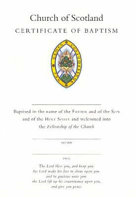 Certificate Of Baptism Burning Bush