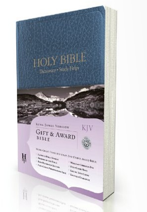 Kjv Gift And Award : Blue Imitation Leather
