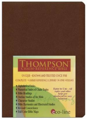 KJV Thomspn Chain Reference Bible Im/Le/Drk Br