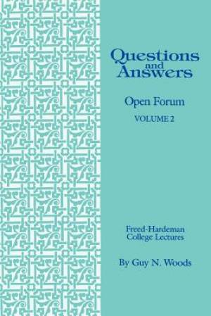 Questions & Answers: Open Forum Volume 2