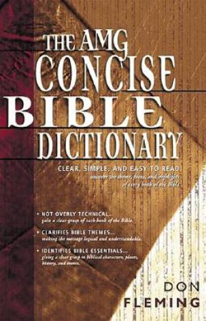 Amg Concise Bible Dictionary Hb