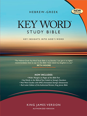 KJV Hebrew-Greek Key Word Study Bible: Black, Bonded Leather