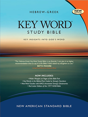 NASB Key Word Study Bible: Burgundy, Genuine Leather