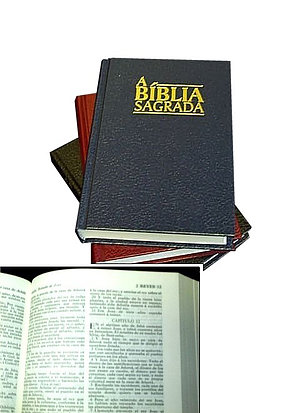 Brazilian Portuguese (Almeida Revised) Bible: Blue Hardback
