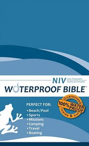 NIV Waterproof Bible Blue - New Testament Psalms and Proverbs