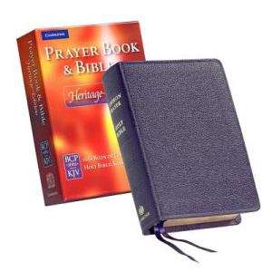 Heritage Edition Prayer Book and Bible CPKJ424 Purple Calf Split Leather