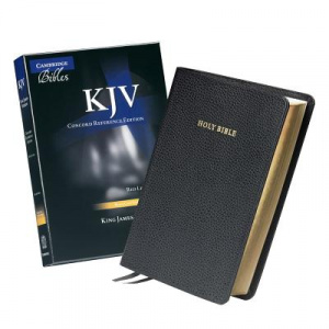 KJV Concord Reference Edition Bible Calfskin Black