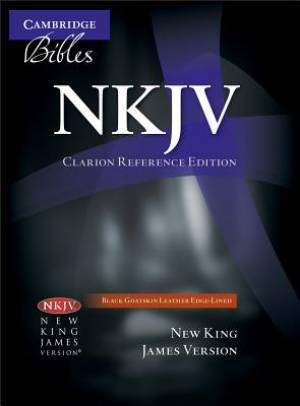 NKJV Clarion Reference Bible NK486: XE Black Goatskin Leather