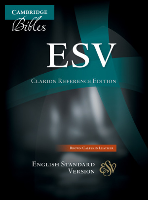ESV Clarion Reference Bible Calfskin Leather Brown