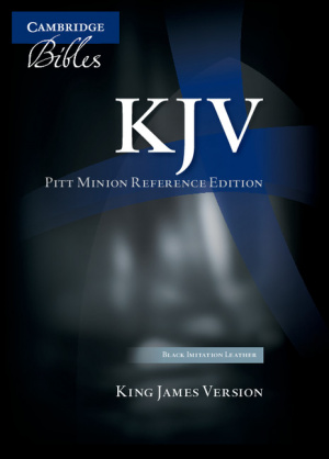 KJV Pitt Minion Reference Edition Black Imitation Leather