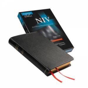 NIV Pitt Minion Reference Edition, Black Goatskin Leather, Red Letter Text