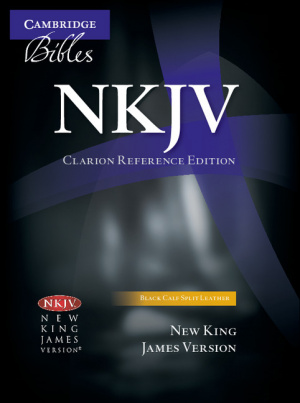 NKJV Clarion Reference Edition NK484: X Black Calf Split Leather