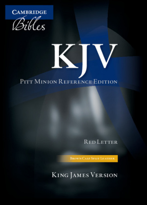 KJV Pitt Minion Reference Edition KJ444: XR Brown Calf Split Leather