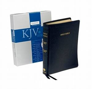 KJV Concord Wide Margin Reference Edition Bible Leather Black