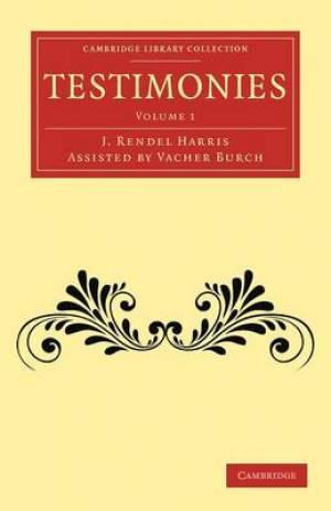 Testimonies: Volume 1