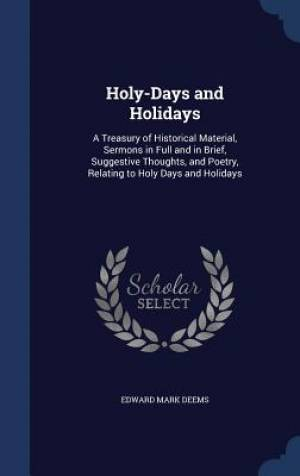 Holy-Days and Holidays