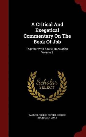 A Critical and Exegetical Commentary on the Book of Job