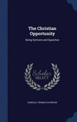 The Christian Opportunity