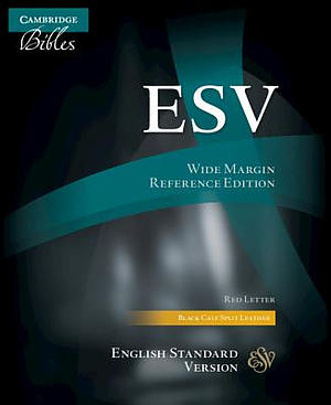 Esv Wide-Margin Reference Bible, Black Calf Split Leather, Red Letter Text, Es744:Xrm