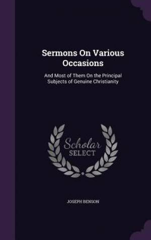 Sermons on Various Occasions