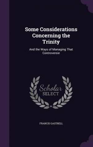 Some Considerations Concerning the Trinity