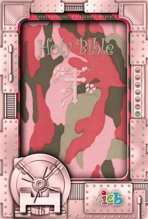 ICB Compact Kids Bible: Pink Camo,  LeatherSoft