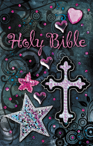 NKJV Sequin Bible Black Hardback