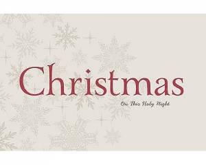 Christmas On This Holy Night