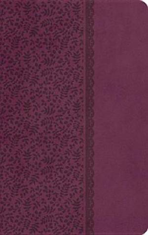 KJV Compact Ultraslim Imitation Leather in Plum