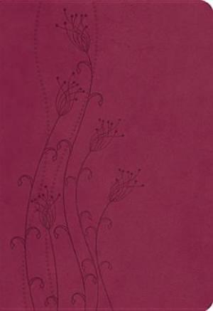 NKJV Giant Print Reference Bible Imitation Leather, Cranberry
