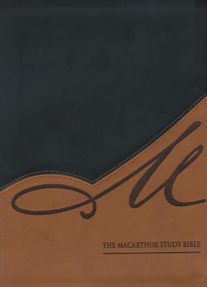 NASB MacArthur Study Bible: Black/Tan, Leather-Like, Thumb Indexed