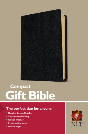 NLT Compact Bible Black Bonded Leather