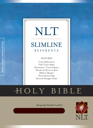 NLT Slimline Reference Bible: Burgundy, Bonded Leather