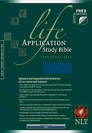NLT Life Application Study Bible: Navy, Bonded Leather, Personal Size