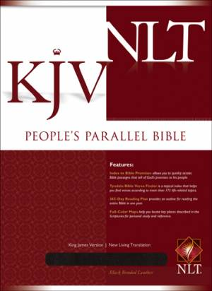 KJV / NLT People's Parallel Bible: Black, Bonded Leather