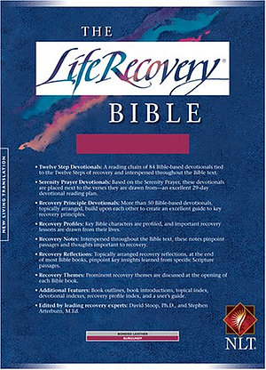NLT Life Recovery Bible, Burgundy, Bonded Leather