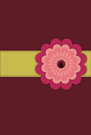 NLT Compact Bible: Pink Flower, LeatherLike