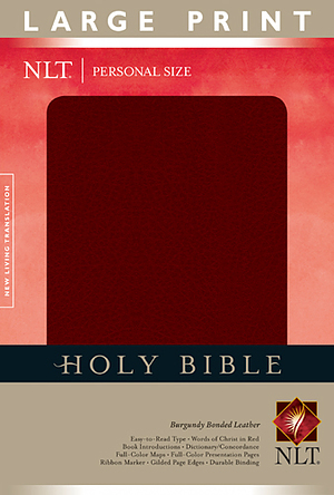 NLT Personal Size Large Print Bible: Burgundy, Bonded Leather