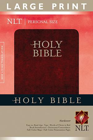 NLT Large Print Personal Size Bible Hardback