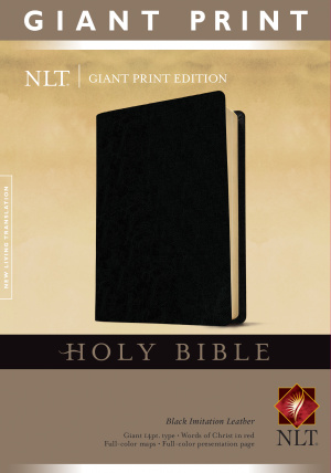 NLT Giant Print Bible: Black