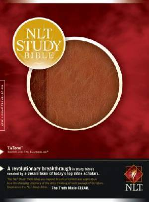 NLT Study Bible: Brown / Tan, Tu Tone, Thumb Indexed