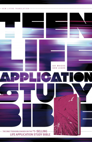 NLT Teen Life Application Study Bible: Pink Fields, Leatherlike