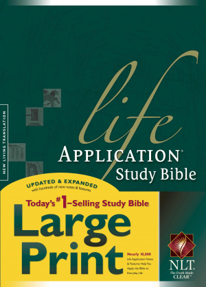 NLT Life Application Study Bible Hardback Large Print Thumb Indexed
