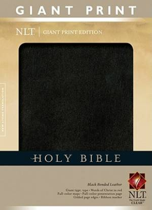 NLT Giant Print Bible: Black, Bonded Leather