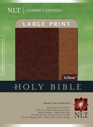 NLT Large Print Compact Index Tutone Brown Tan Leatherlike