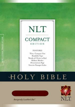 NLT Compact Bible: Burgundy, Leatherlike, Thumb Index