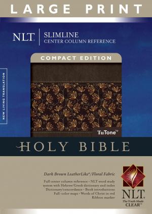NLT Slimline Large Print Reference Bible - Tu Tone