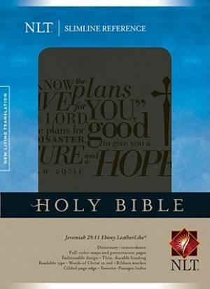NLT Slimline Reference Jeremiah 29:11 Ebony