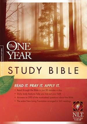NLT One Year Study Bible: Hardback