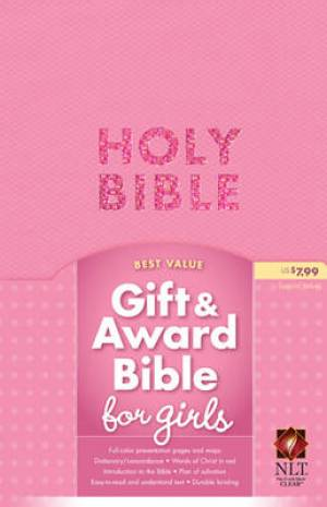 NLT Gift And Award Bible Imitation Leather Pink